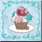Fancy Cupcakes art print poster with block mounting