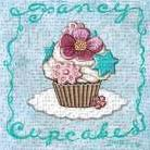 Fancy Cupcakes art print poster transferred to canvas