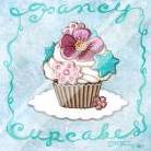Fancy Cupcakes art print poster with laminate