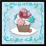 Fancy Cupcakes art print poster with simple frame