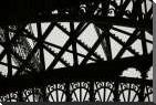 Eiffel Tower Latticework V art print poster with block mounting