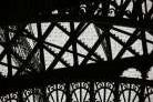 Eiffel Tower Latticework V art print poster transferred to canvas