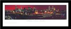 Melbourne art print poster with simple frame