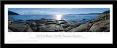 Coles Bay art print poster with simple frame