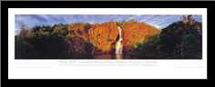 Wangi Falls art print poster with simple frame