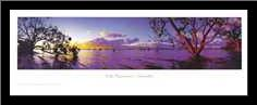 Lake Pamamaroo art print poster with simple frame
