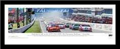 Bathurst 99 art print poster with simple frame