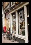 Amsterdam Storefront art print poster with simple frame