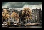 Amsterdam Autumn Colors art print poster with simple frame
