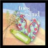 Toes in the Sand art print poster with simple frame