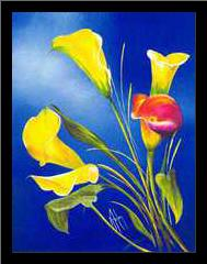 Buttercup art print poster with simple frame