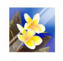 Frangipani Bouquet art print poster with laminate