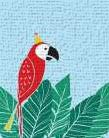 Tropical Bird I art print poster transferred to canvas