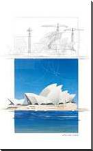 (I) Opera House art print poster with block mounting