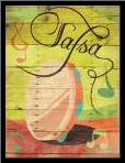 Salsa II art print poster with simple frame