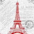Paris 2 art print poster transferred to canvas