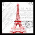 Paris 2 art print poster with simple frame