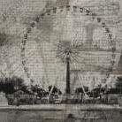 London Wheel art print poster transferred to canvas