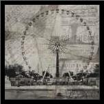 London Wheel art print poster with simple frame