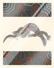 Goanna art print poster with laminate