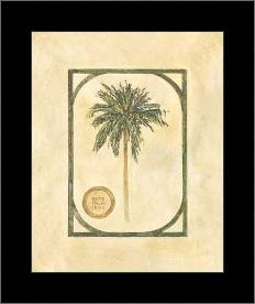 Date Palm art print poster with simple frame
