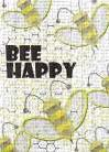 Bee Happy art print poster transferred to canvas