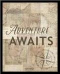 Adventure Awaits Recolor art print poster with simple frame