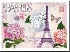 Paris in Lavendar art print poster with block mounting