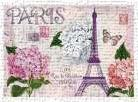 Paris in Lavendar art print poster transferred to canvas