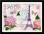 Paris in Lavendar art print poster with simple frame