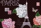 Paris Dots art print poster transferred to canvas