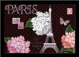 Paris Dots art print poster with simple frame