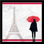 A Night in Paris art print poster with simple frame
