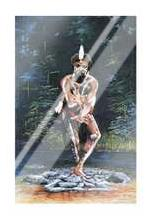 Tjapukai Dancer art print poster with laminate