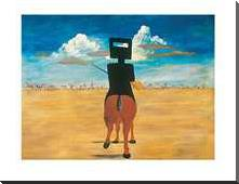 Ned Kelly 1946 art print poster with block mounting