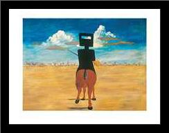 Ned Kelly 1946 art print poster with simple frame