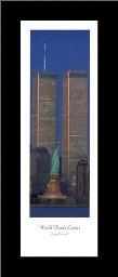 New York-Towers Statue art print poster with simple frame