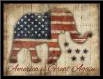 America Is Great Again art print poster with simple frame