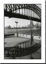 Bridge in a Puddle art print poster with block mounting