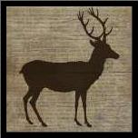 Deer art print poster with simple frame