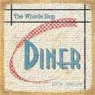 Whistle Stop Diner art print poster transferred to canvas