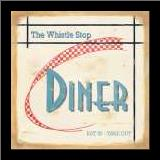 Whistle Stop Diner art print poster with simple frame
