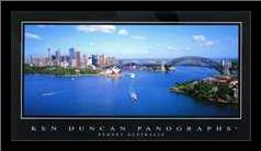 Sydney Australia art print poster with simple frame