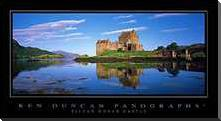 Eilean Donan Castle art print poster with block mounting