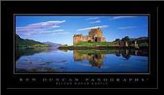 Eilean Donan Castle art print poster with simple frame