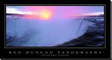 Niagara Falls art print poster with block mounting