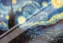 Starry Night art print poster with laminate