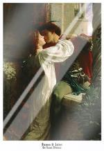 Romeo and Juliet art print poster with laminate