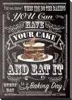 Have Your Cake art print poster with block mounting