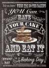 Have Your Cake art print poster transferred to canvas